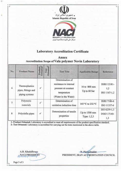 Laboratory Certification Certificate