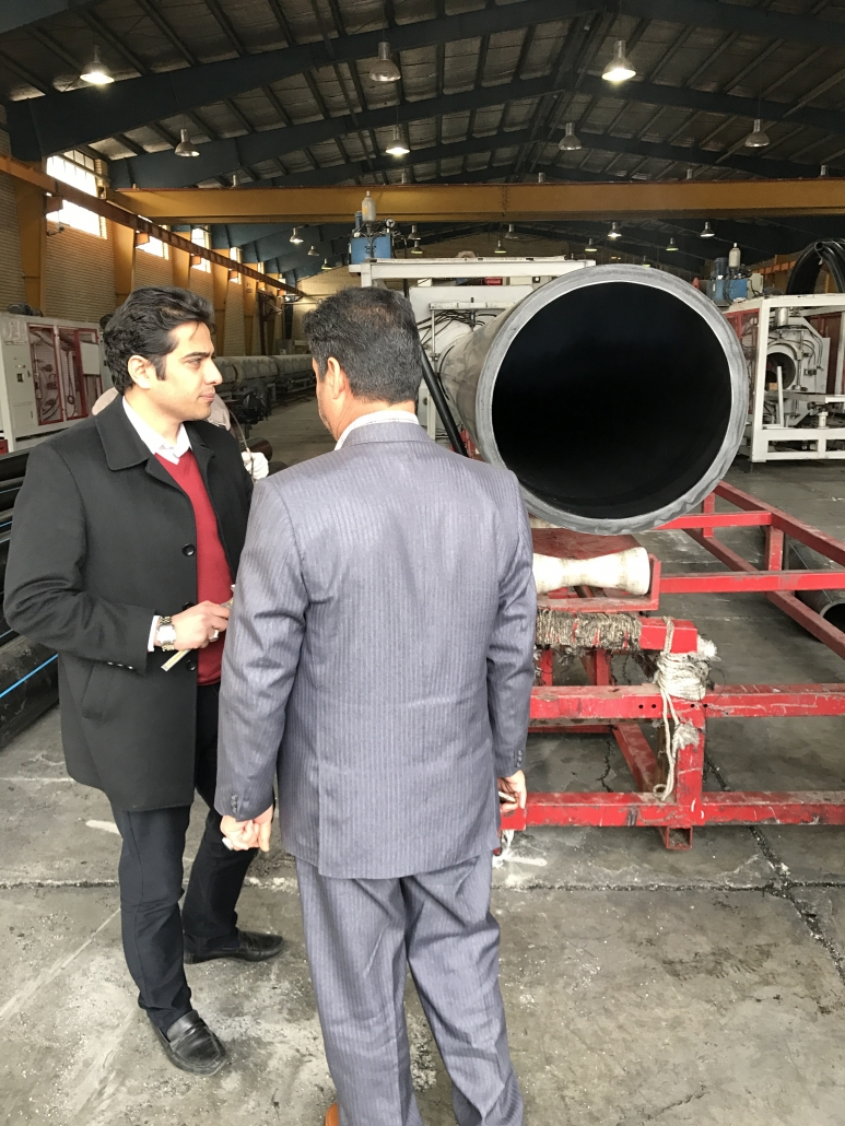 Inspection of 800 export pipes to Basra, Iraq